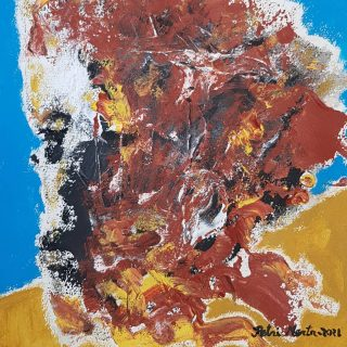"""Soul elsewere"",2021. Acrylic on paper. 40cm x 30cm.#acrylicpainting #artinstudio #figurativeart #artwork #artcontemporain #originalart #modernartist #fineart #arte #pintura #kunst #malerei #art #maalaus #contemporaryart #instaartist #artistoninstagram #contemporaryartfinland #artfinland #artlovers #artsy #artgalleries #artgallery #artoftheday #mertarte #petrimerta"